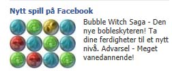 Bubble Witch Saga, Facebookannonse