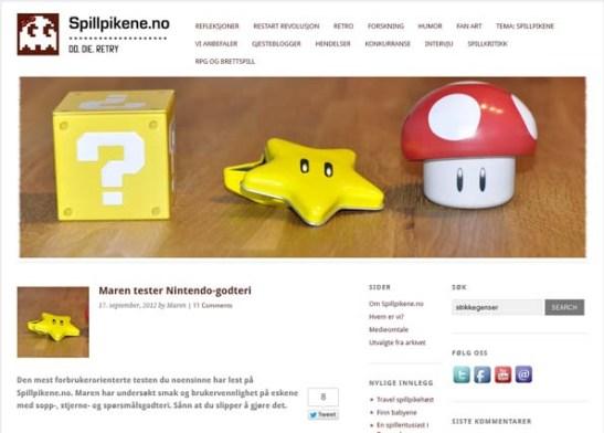 Maren tester Nintendo godteri - spillpikene